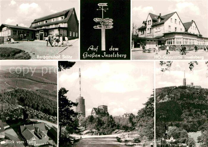 AK / Ansichtskarte Grosser Inselsberg Berggasthof Stoehr Blick vom Turm Gaststaette Inselsberg Kat. Brotterode