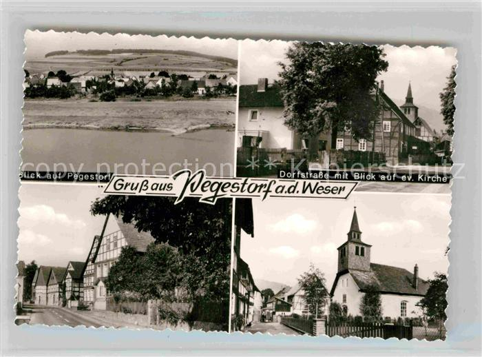 AK / Ansichtskarte Pegestorf Panorama Dorfstrasse mit ev Kirche  Kat. Pegestorf