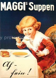 AK / Ansichtskarte Werbung Reklame Maggi Suppen 1920 Kat. Werbung