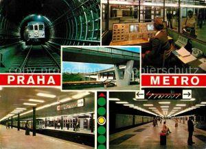 AK / Ansichtskarte U Bahn Subway Underground Metro Praha Metro Stanice Gottwaldova Stanice Budejovicka