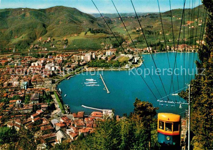 AK / Ansichtskarte Como Lago di Como Panorama con funicolare Como Brunate