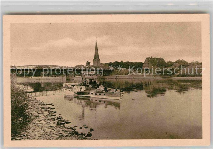 AK / Ansichtskarte Holzminden Weser Dampfer Kirchturm  Kat. Holzminden