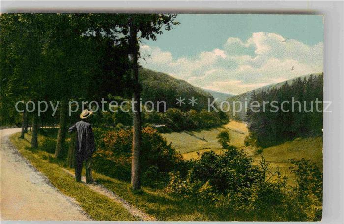 AK / Ansichtskarte Holzminden Weser Rumortal Wanderer Kat. Holzminden