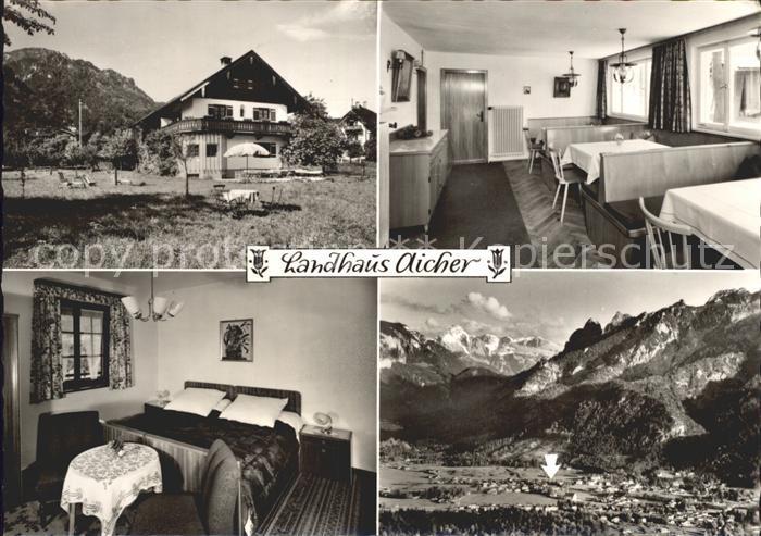 AK / Ansichtskarte Bayerisch Gmain Landhaus Aicher Gaststube Zimmer Totalansicht Kat. Bayerisch Gmain
