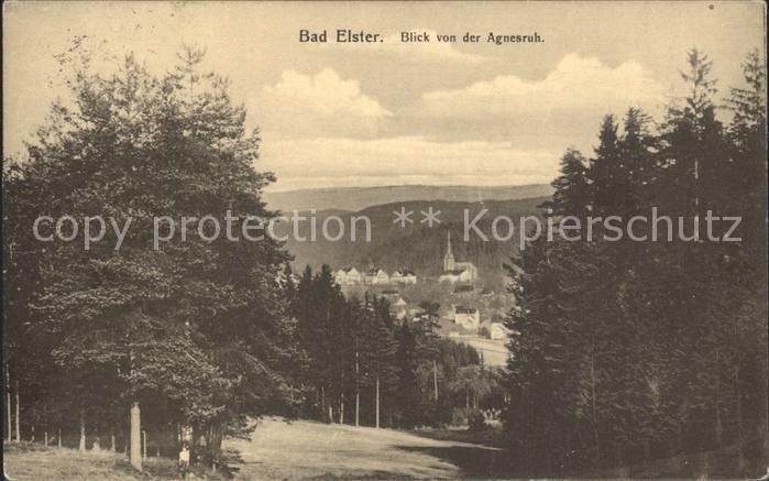 AK / Ansichtskarte Bad Elster Blick von der Agnesruh Kat. Bad Elster