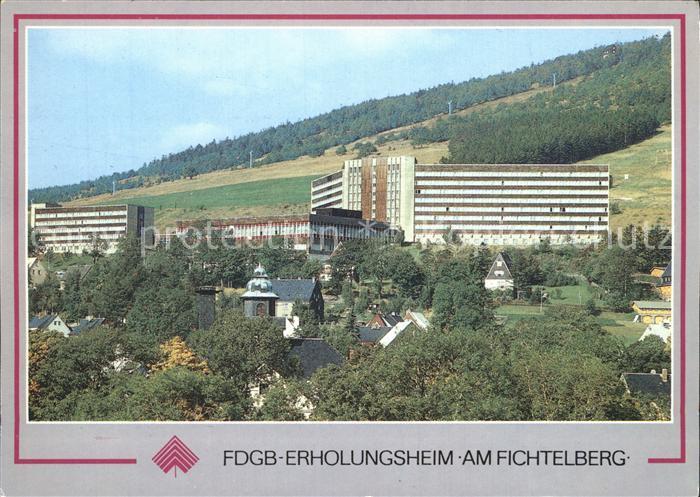 AK / Ansichtskarte Oberwiesenthal Erzgebirge FDGB Erholungsheim am Fichtelberg Kurort Wintersportplatz Kat. Oberwiesenthal