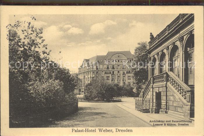 AK / Ansichtskarte Dresden Palast  Hotel Weber Kat. Dresden Elbe