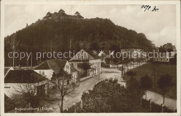 AK / Ansichtskarte Augustusburg Teilansicht Luftkurort mit Schloss Kat. Augustusburg