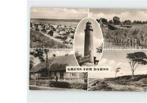 AK / Ansichtskarte Darss Region Ostsee Strand Leuchtturm Altes Haus  Kat. Wieck Darss