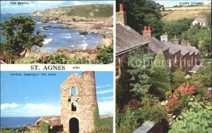 AK / Ansichtskarte St Agnes Cornwall Coast Atlantic Ocean Beach Stippy Stappy Wheal Friendly Tin Mine / St Agnes /Cornwall