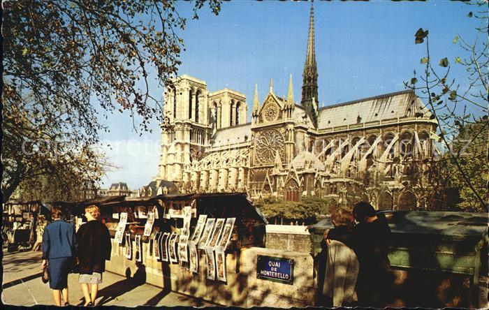 AK / Ansichtskarte Paris Notre Dame de Paris et les Bouquinistes Kat. Paris