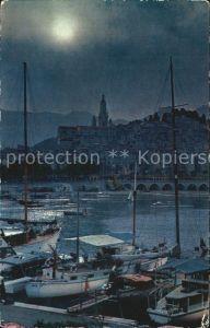 AK / Ansichtskarte Menton Alpes Maritimes Coucher de soleil sur le Port Kat. Menton