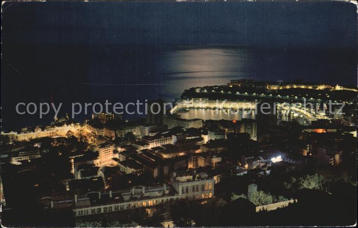 AK / Ansichtskarte Monte Carlo Principaute de Monaco Nachtaufnahme Kat. Monte Carlo