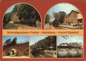 AK / Ansichtskarte Kipsdorf Schmalspurbahn Freital Hainsberg Kipsdorf Dampflokomotive Bruecke Viadukt Kat. Altenberg