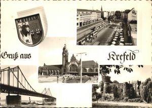AK / Ansichtskarte Krefeld Rheinbruecke Ostwall  Kat. Krefeld