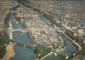 AK / Ansichtskarte Paris Ile Saint Louis Ile de la Cite vue aerienne Kat. Paris