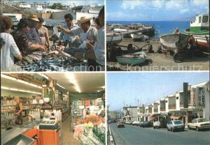 AK / Ansichtskarte Puerto del Carmen Supermercado Playa Blanca Fischmarkt Hafen Kat. Tias Lanzarote
