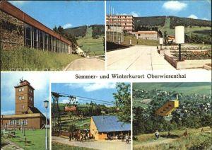 AK / Ansichtskarte Oberwiesenthal Erzgebirge Erholungsheim IG Wismut Fichtelberg Wetterwarte Sprungschanze Kat. Oberwiesenthal