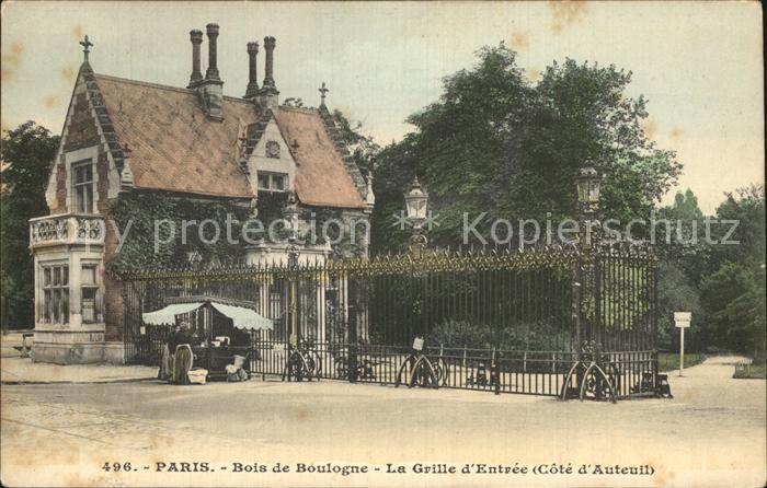 AK / Ansichtskarte Paris Bois de Bologne La Grille d Entree Kat. Paris
