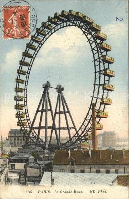 AK / Ansichtskarte Paris la Grande Roue Riesenrad Kat. Paris