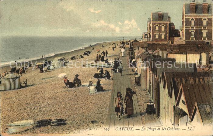 AK / Ansichtskarte Cayeux sur Mer La Plage et les Cabines Kat. Cayeux sur Mer