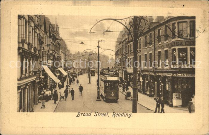 AK / Ansichtskarte Reading Broad Street Tram Tucks Postcard Kat. Reading