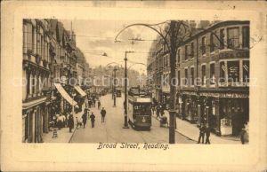 AK / Ansichtskarte Reading Broad Street Tram Tucks Postcard Kat. Reading