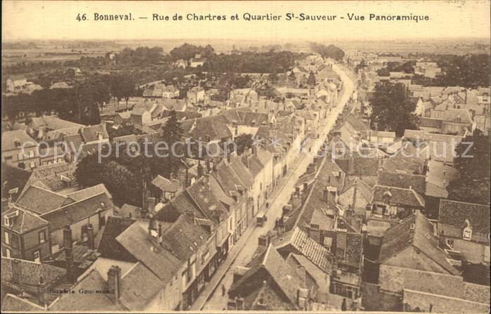 AK / Ansichtskarte Bonneval d Eure et Loir Rue de Chartres Quartier Saint Sauveur Kat. Bonneval