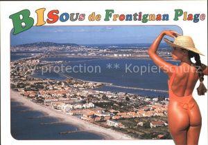 AK / Ansichtskarte Frontignan Herault Entre mer et etange vue aerienne Badenixe Kat. Frontignan