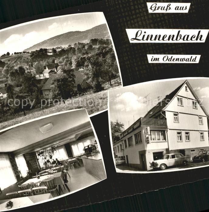 AK / Ansichtskarte Linnenbach Panorama Odenwald Gasthaus Metzgerei Zum Hannes Kat. Fuerth