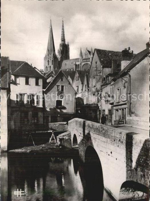 AK / Ansichtskarte Chartres Eure et Loir Le Pont Bouju Eglise Kat. Chartres