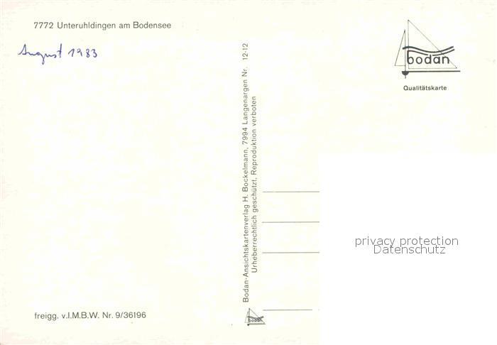 83 Ak Unteruhldingen Am Bodensee Sammeln & Seltenes