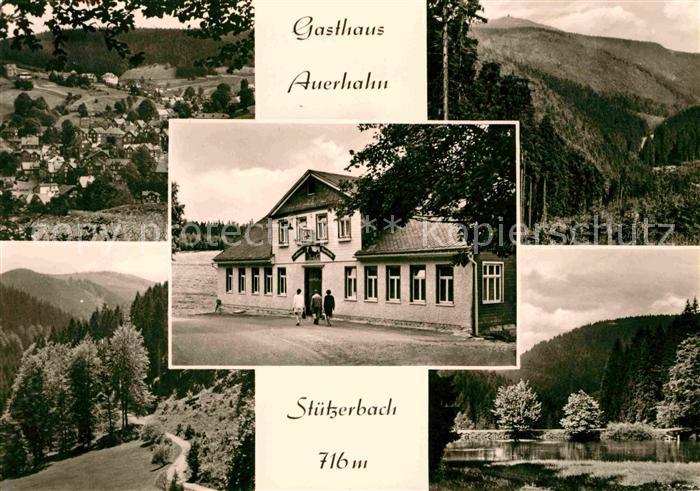 AK / Ansichtskarte Stuetzerbach Gasthaus Auerhahn Waldpartie Landschaftspanorama Kat. Stuetzerbach