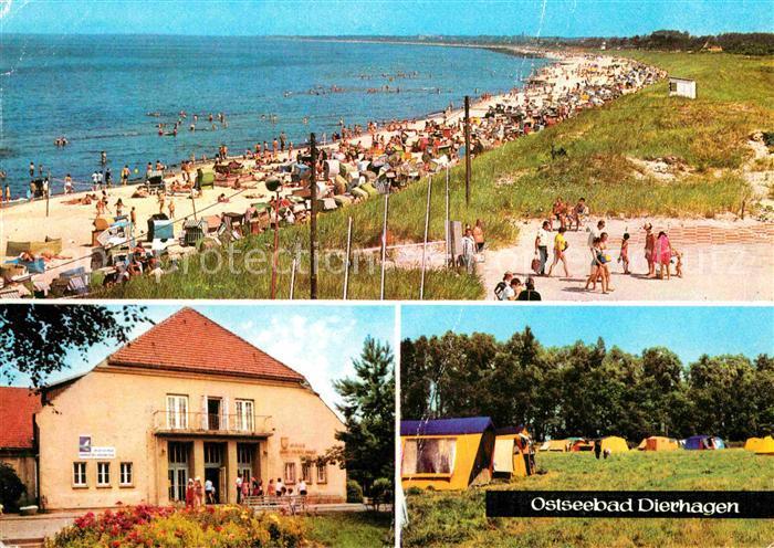 AK / Ansichtskarte Dierhagen Ostseebad Strand FDGB Erholungsheim Ernst Moritz Arndt Zeltplatz Kat. Dierhagen Ostseebad