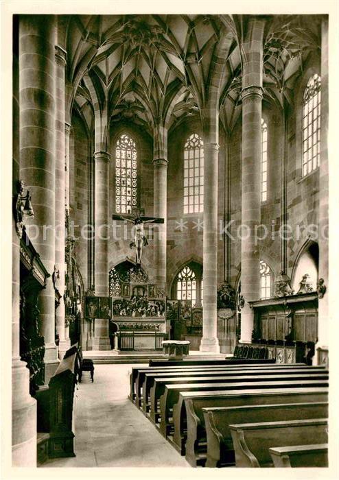 AK / Ansichtskarte Schwaebisch Hall Stadtkirche St Michael Innenansicht Kat. Schwaebisch Hall