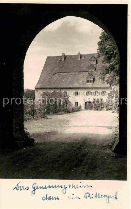 AK / Ansichtskarte Freiberg Sachsen Genesungsheim im Rittergut Kat. Freiberg