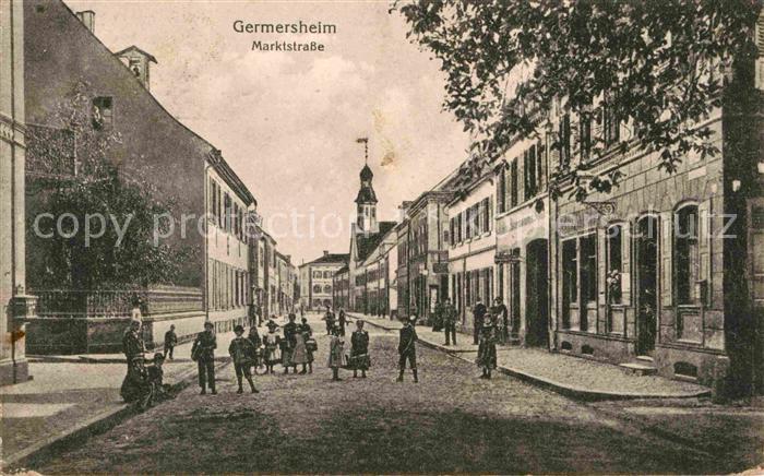 AK / Ansichtskarte Germersheim Marktstrasse Kat. Germersheim