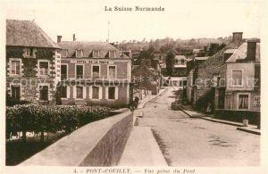 AK / Ansichtskarte Pont d Ouilly Vue prise du Pont Hotel de la Poste  Kat. Pont d Ouilly
