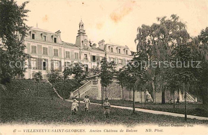 AK / Ansichtskarte Villeneuve Saint Georges Ancien Chateau de Balzac  Kat. Villeneuve Saint Georges