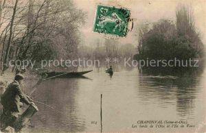 AK / Ansichtskarte Pontoise  Val d Oise Boot  Kat. Pontoise