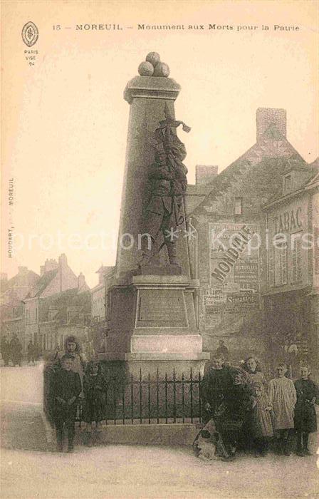 AK / Ansichtskarte Moreuil Monument aux Morts pour la Patrie  Kat. Moreuil
