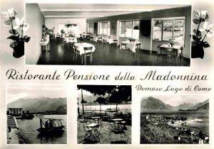AK / Ansichtskarte Domaso Ristorante Pensione della Madonnina  Kat. Italien