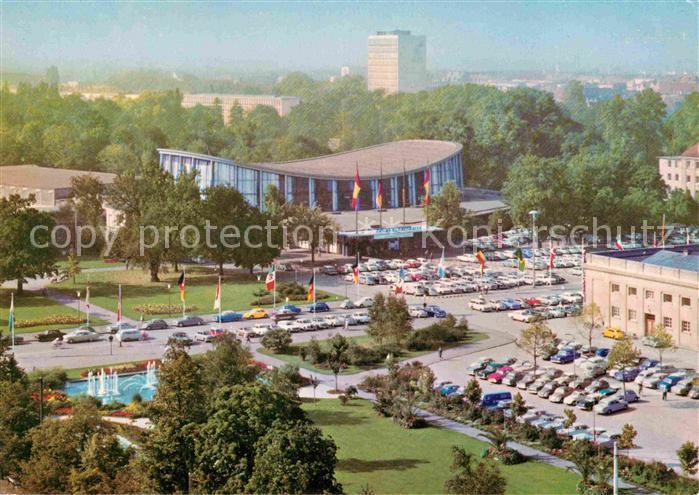 AK / Ansichtskarte Karlsruhe Baden Festhallenplatz Schwarzwaldhalle