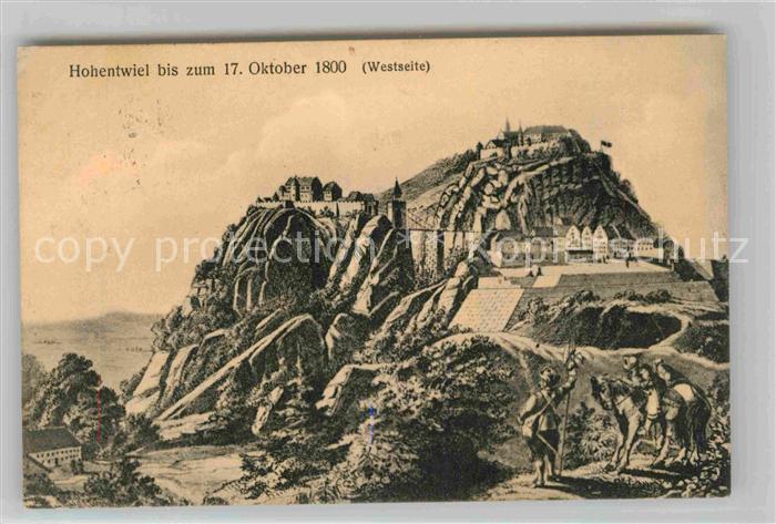 AK / Ansichtskarte Hohentwiel Burganlage 1800 Kat. Singen (Hohentwiel)