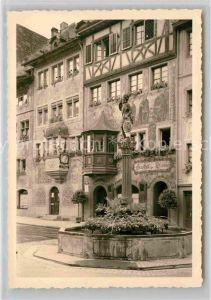 AK / Ansichtskarte Stein Rhein Gasthof zur Sonne Brunnen Kat. Stein Rhein