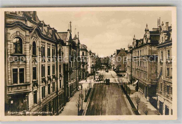 AK / Ansichtskarte Augsburg Bismarckstrasse Kat. Augsburg