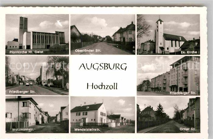 AK / Ansichtskarte Augsburg Friedberger Strasse Watzmannstrasse Ortler Strasse Kat. Augsburg