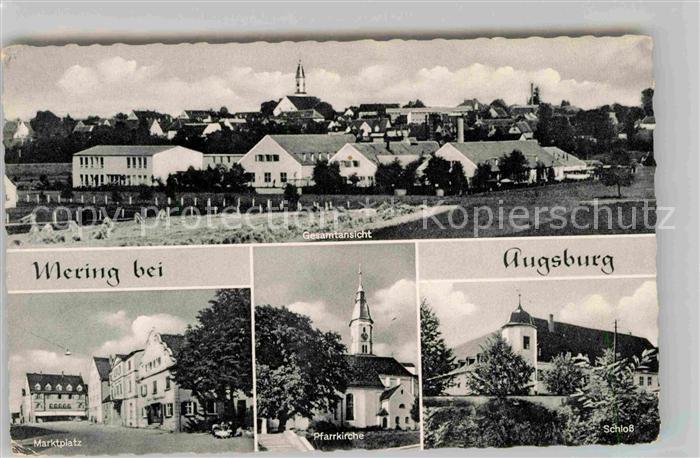 AK / Ansichtskarte Augsburg Pfarrkirche Marktplatz Schloss Kat. Augsburg