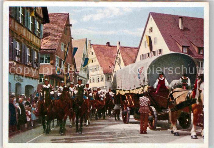 AK / Ansichtskarte Biberach Riss Schuetzenfest Umzug Handelswagen und die Kaiserlichen Kat. Biberach an der Riss