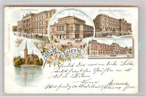 AK / Ansichtskarte Leipzig Universitaets Bibliothek Konservatorium Kat. Leipzig